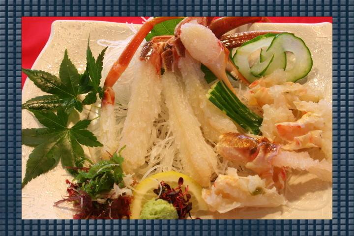 蟹刺身(夏場4月~10月は要問合せ)