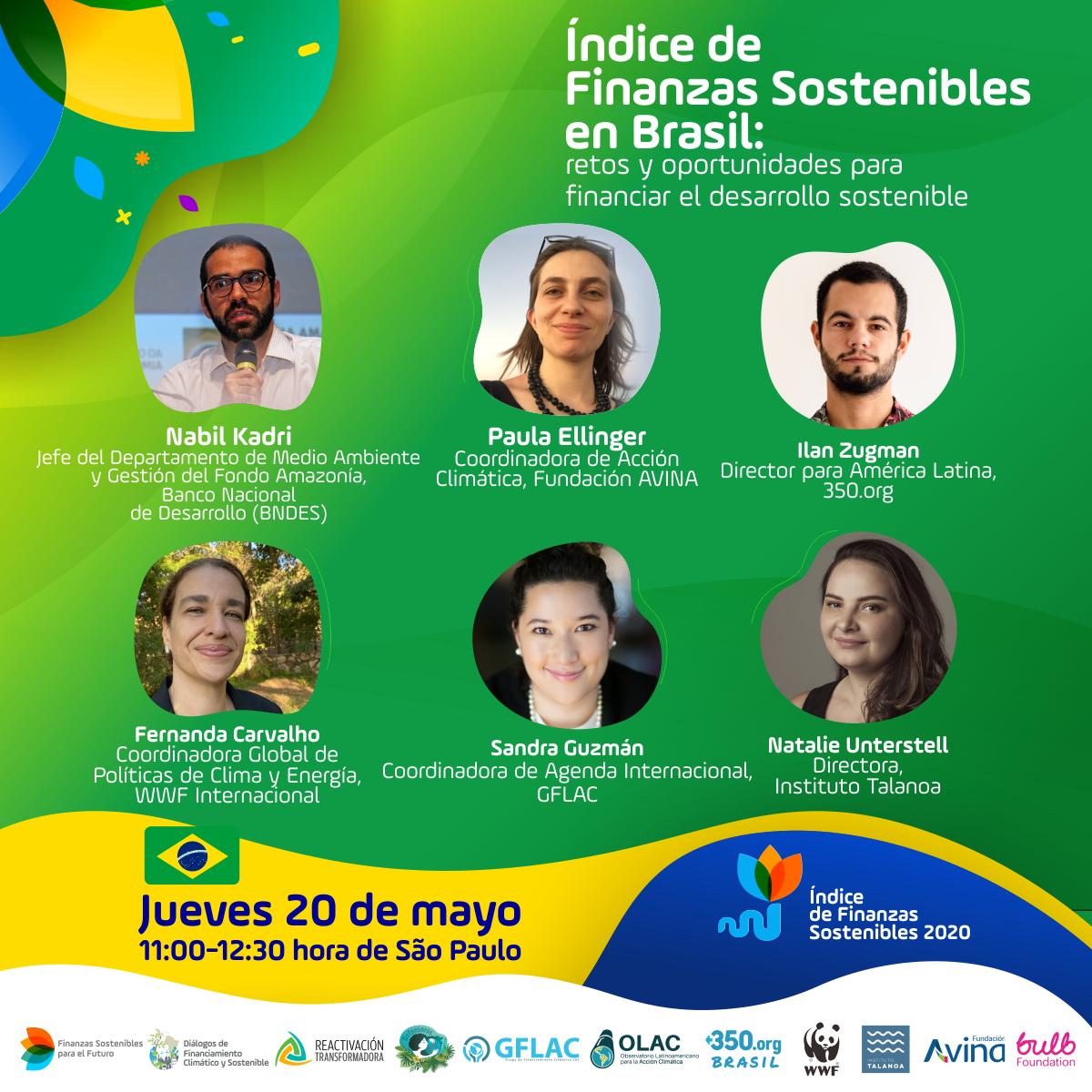 Webinar: Índice de Finanzas Sostenibles en Brasil, retos y oportunidades para financiar el desarrollo sostenible