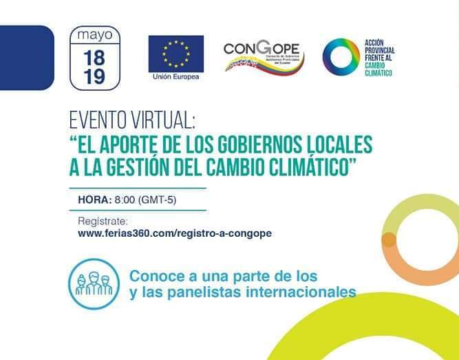"""Seminario: """"El aporte de los Gobiernos Locales a la gestión del cambio climático"""", CONGOPE, Ecuador"""
