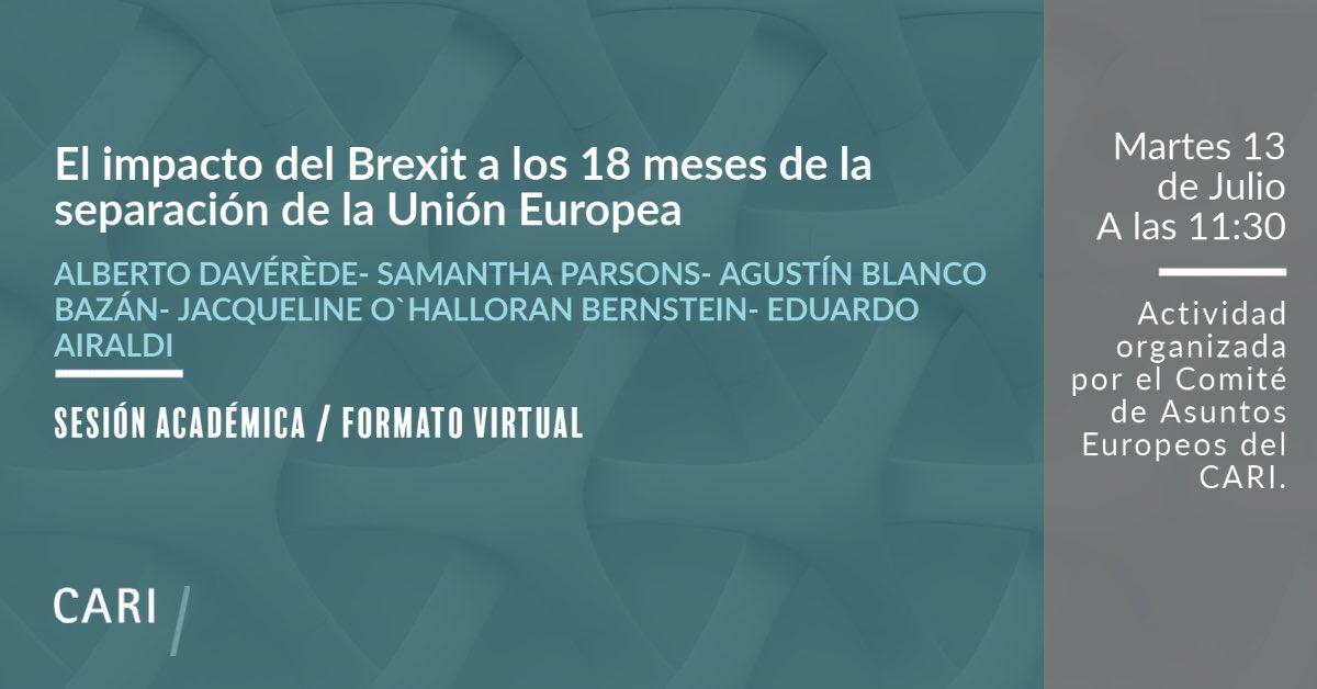 """Webinar: """"El impacto del Brexit a los 18 meses de la separación de la Unión Europea"""""""