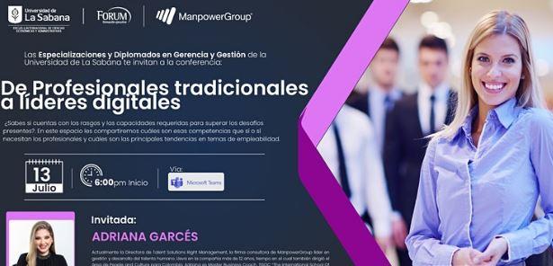"""Conferencia: """"De Profesionales tradicionales a líderes digitales"""""""