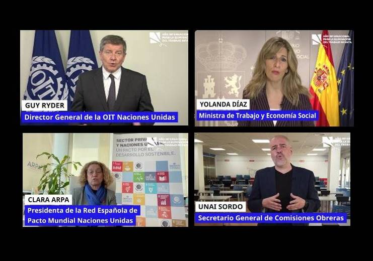 Acto de lanzamiento en España del Año internacional para la Eliminación del Trabajo Infantil