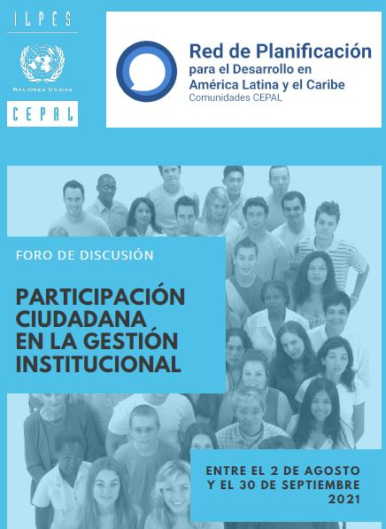 Foro de Discusión: La participación ciudadana en la gestión institucional pública de los países de América Latina y el Caribe