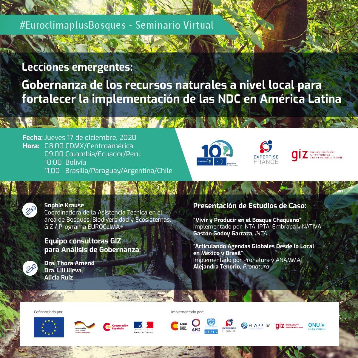 Gobernanza de los recursos naturales a nivel local para fortalecer la implementación de las NDC en América Latina