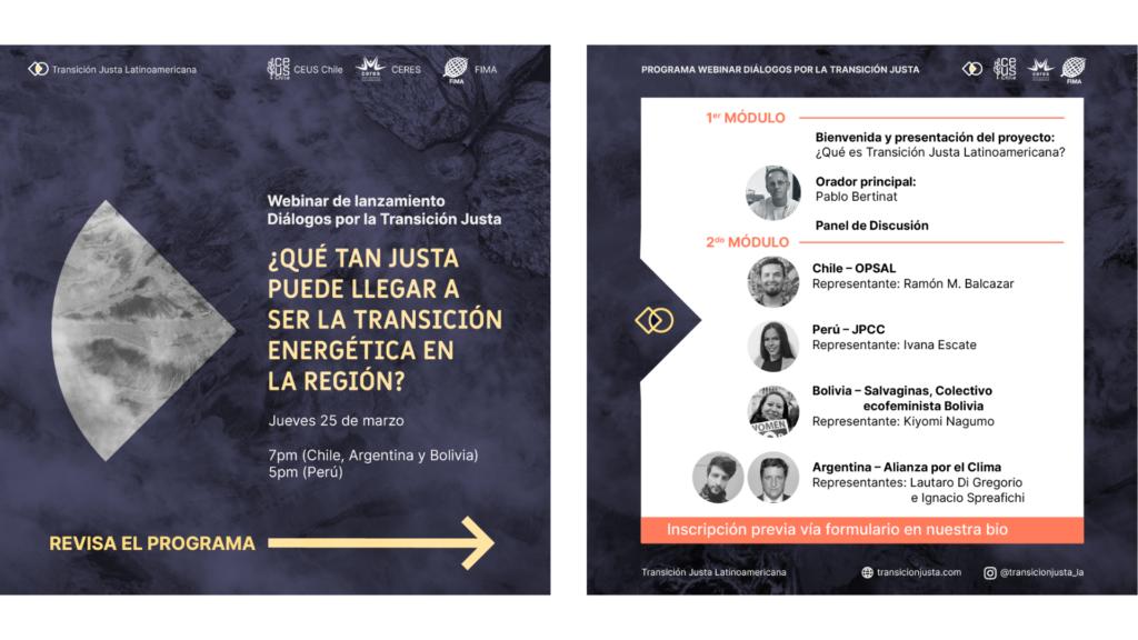 """Diálogos por la """"Transición Justa en América Latina"""""""