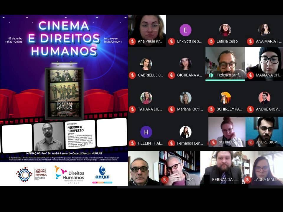 """Participamos del Ciclo """"Cinema y Direitos Humanos"""" UNIJUI, RS Brasil"""
