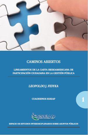 """Presentamos el cuaderno temático: """"Caminos Abiertos"""" Lineamientos de la Carta Iberoamericana de Participación Ciudadana en la Gestión Pública"""