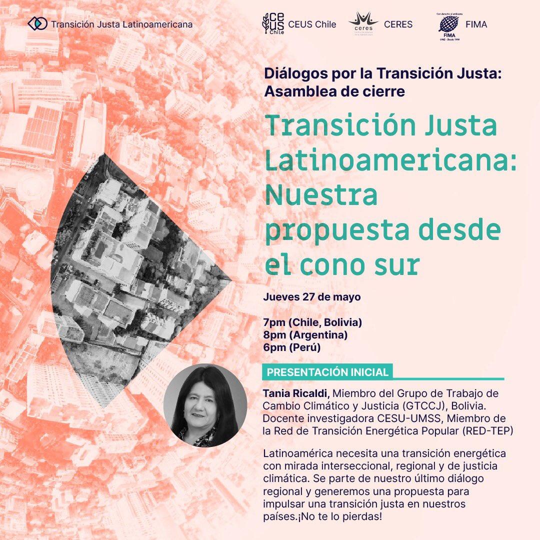 5ª sesión de los Diálogos Regionales por la Transición Justa
