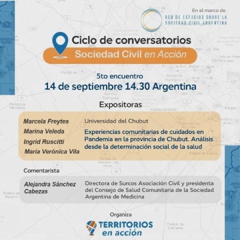 "Conversatorio:  ""Experiencias comunitarias de cuidados en Pandemia en Chubut"""