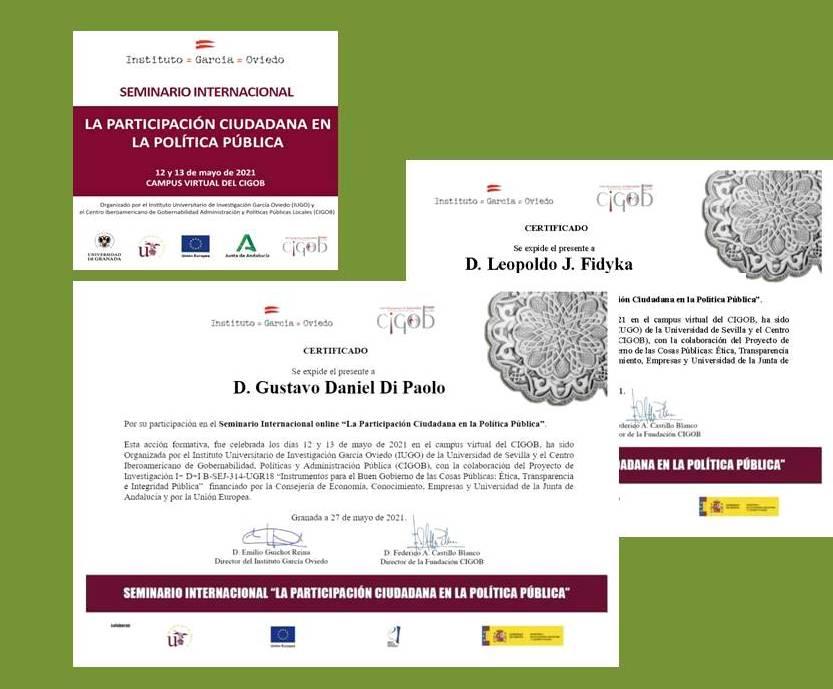 """Participamos del """"Seminario Internacional: La Participación Ciudadana en la Política Pública"""""""