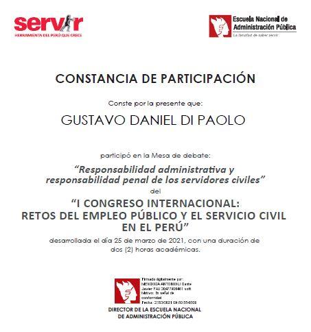 """Congreso internacional 'Retos del empleo público y el servicio civil"""" del Perú"""