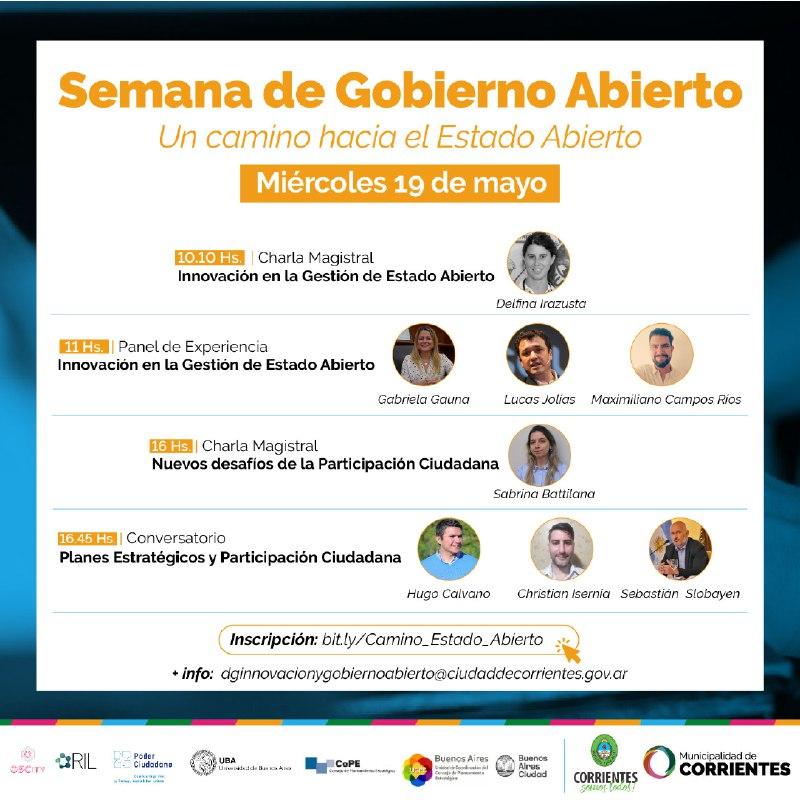"""Webinar: """"Un camino hacia el Estado Abierto"""", ciudad de Corrientes"""