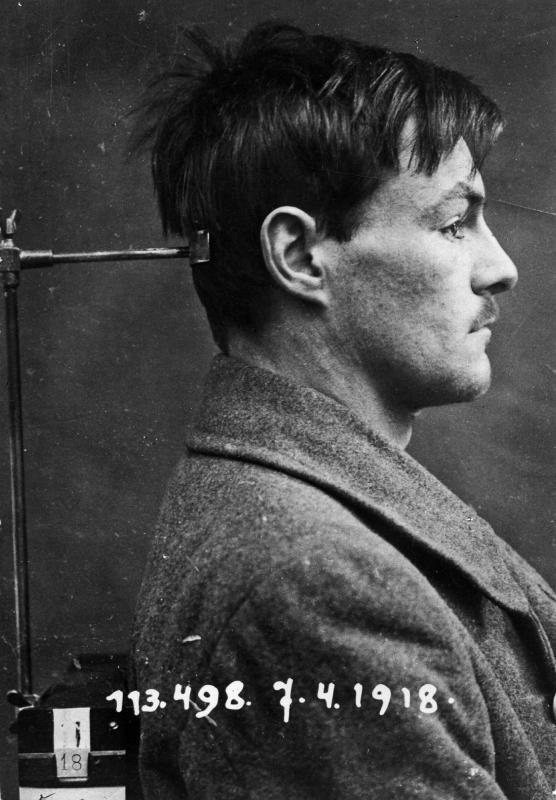 Gefängnisfotografie des Verbrechers Johann Breitwieser, Nationalbibliothek Wien