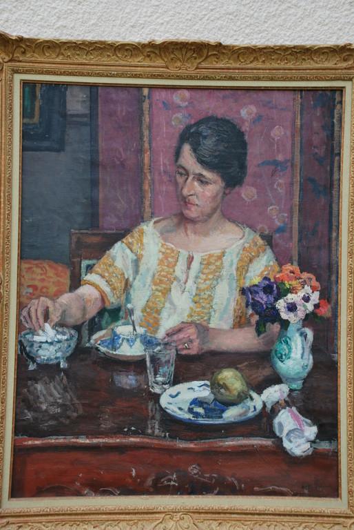 72x91 : huile sur toile : Madame Swieykowski à l'heure du thé: Coll. Part