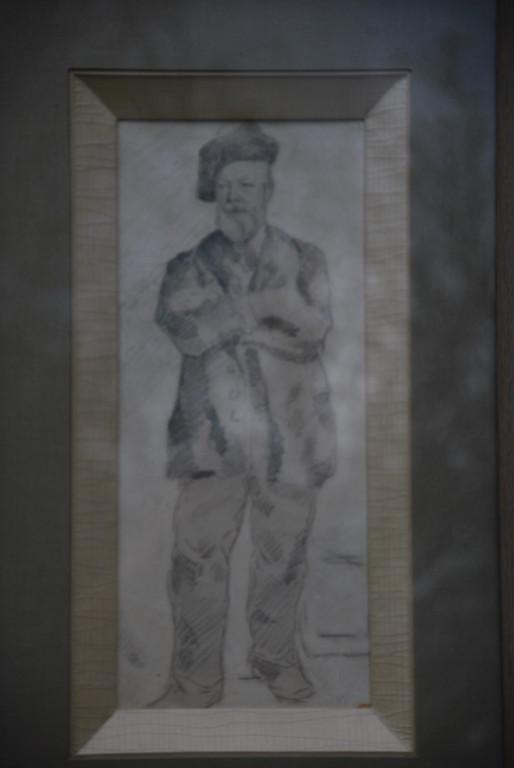 14x32 : crayon sur papier : Hippolyte Swieykowski, père du peintre Coll. Part