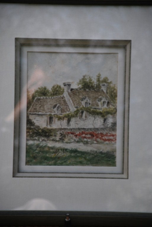 16x19 : aquarelle : la chaumière Coll. Part