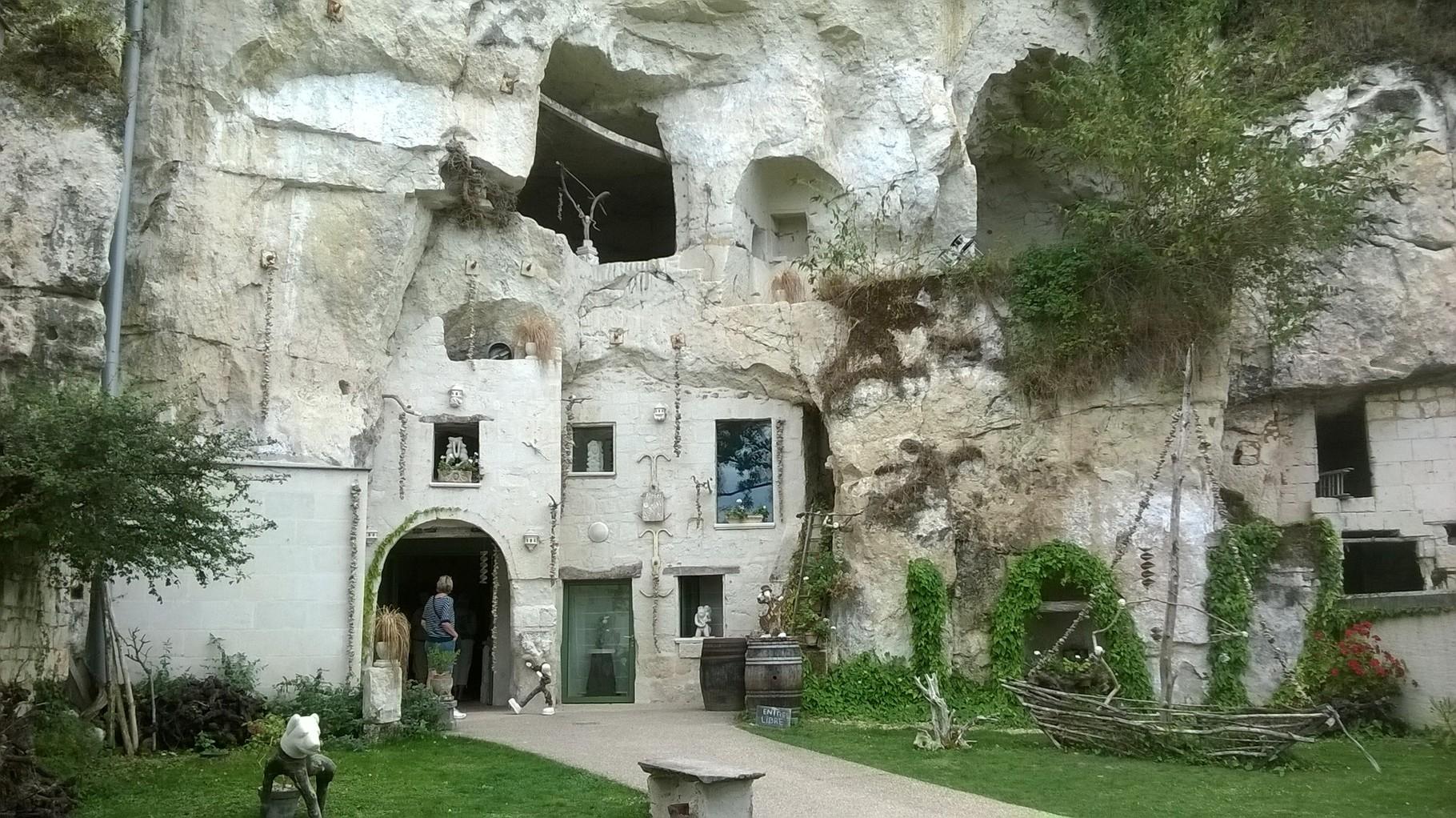 Maisons troglodytes à Turquant