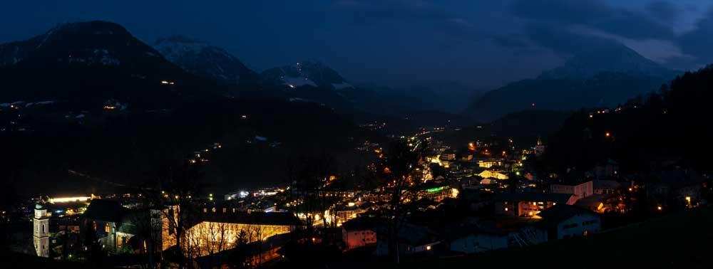 Nächtlicher Blick auf Berchtesgaden