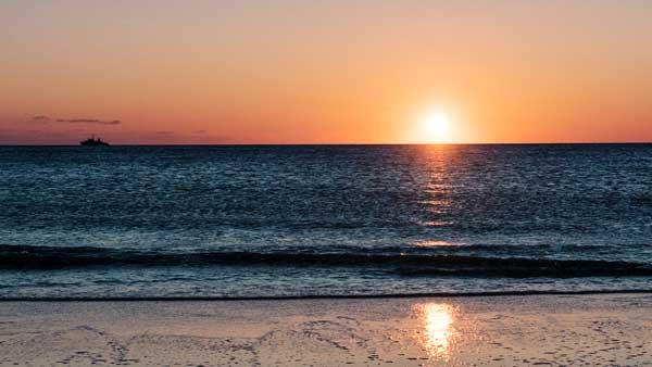 Sonnenuntergang bei Rantum, Sylt
