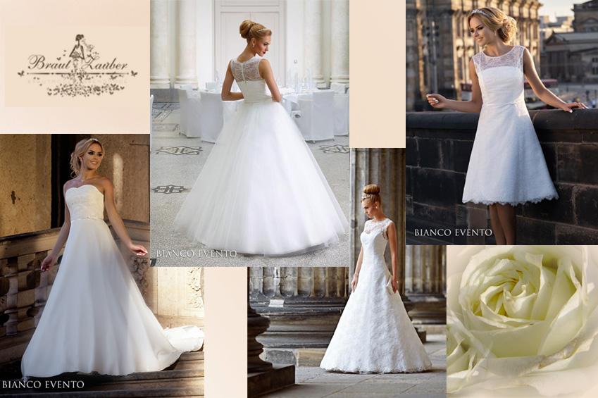 Ob kurz und schlicht oder bodenlang und pompös - wir haben Brautkleider für jeden Typ.