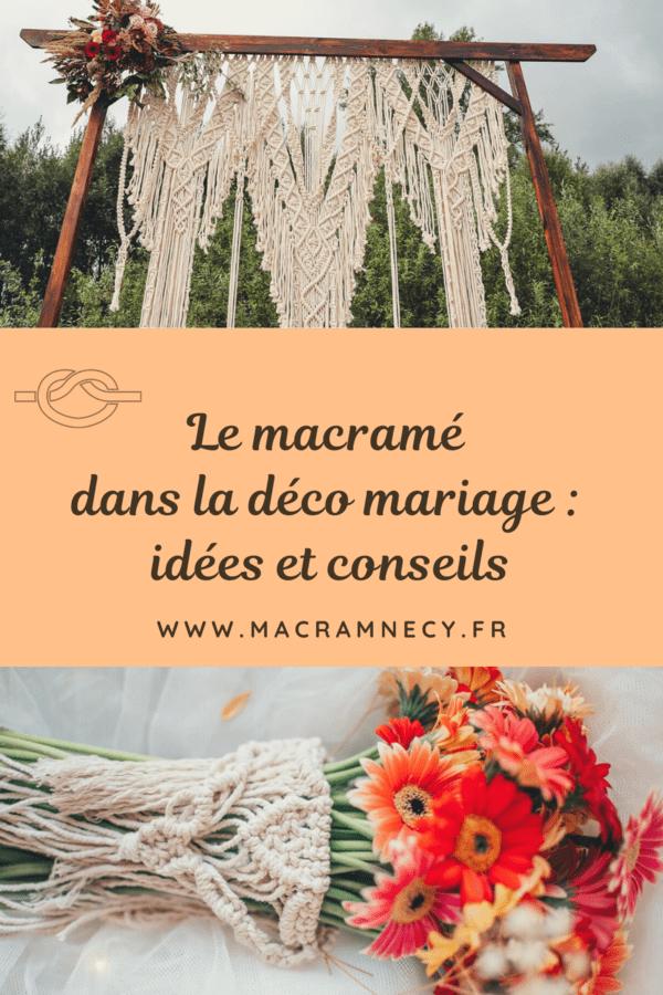 Le macramé dans la déco mariage