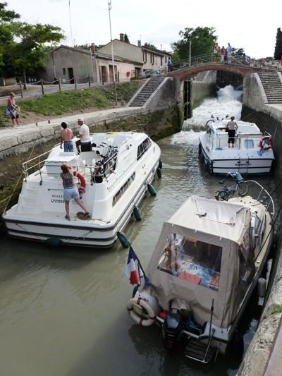 Les écluses de Fonsérannes sur le Canal du Midi