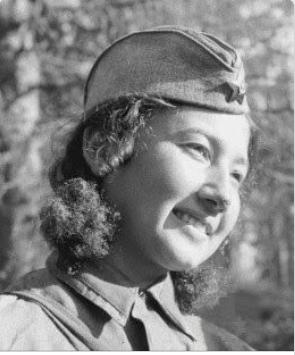 Ziba Ganiewa, 21 tödliche Treffer, nahm an der Schlacht vor Moskau teil, kreuzte 16 mal als Spionin die Frontlinie(n)