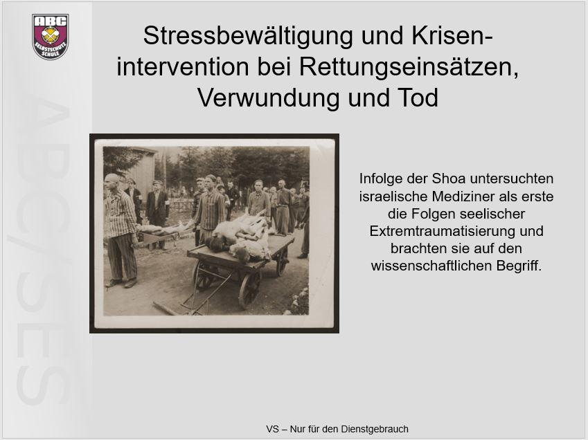 Gezwungenermaßen setzten sich die Isralis als Erste mit den Behandlungsmöglichkeiten der Folgen solch schwerer Traumatisierungen auseinander.