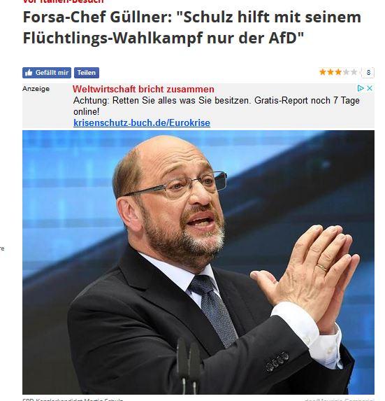 Schulz kloppt wieder auf den bockigen europäischen Staaten rum