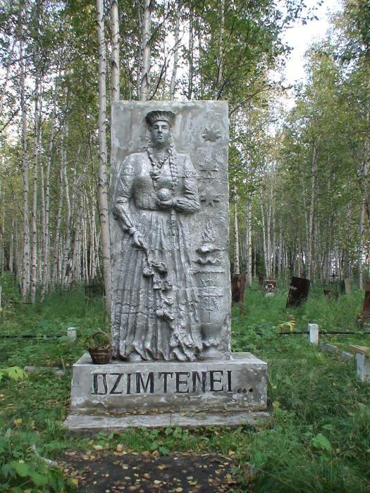 Monument für die lettischen Häftlinge im Lager Inta in der Republik Komi. Im Juli 1956 eingeweiht, 1989 restauriert.