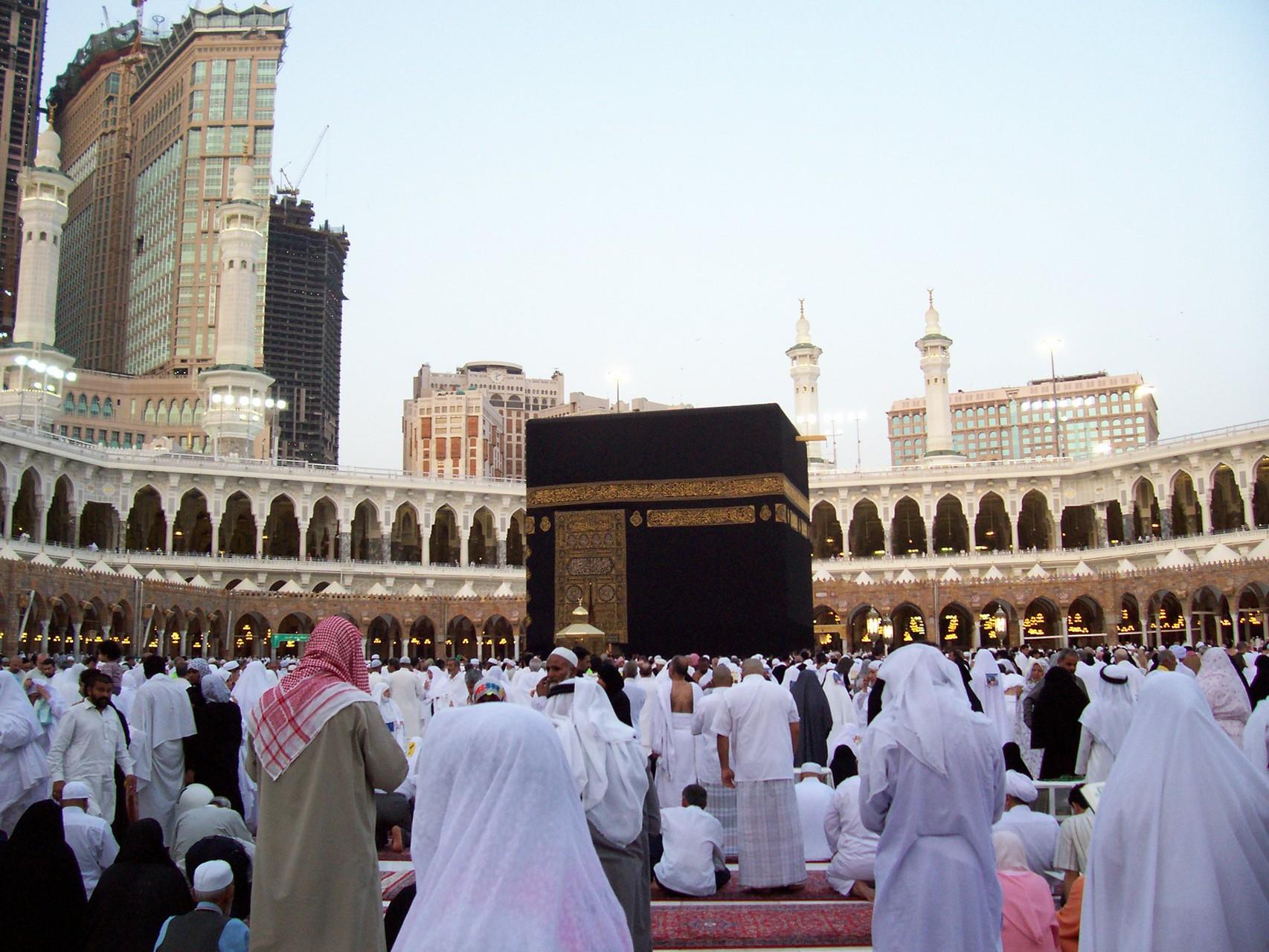 Kaaba im Hellen