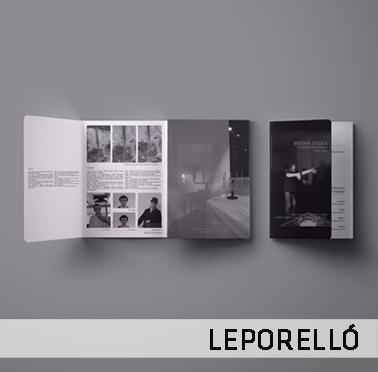Indigo csoport kiállítási leporello