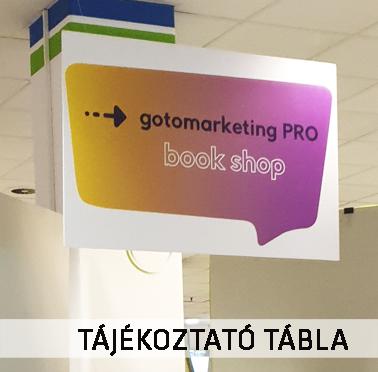 Marketing Expo 2019 tájékoztatótábla