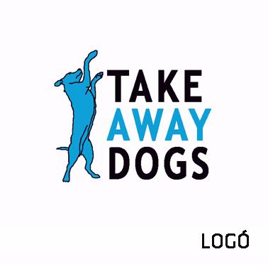 Take away dogs, kutya örökbefogadási nonprofit kezdeményezés logója