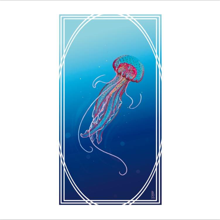 Méduse pélagique