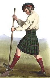 Kleiner Kilt (vermutlich ein Early Kilt) von R.R. MacIan, 1845