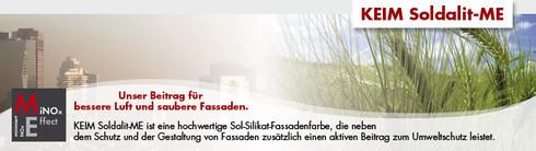 KEIM Soldalit ME cover, unser Beitrag für bessere Luft und saubere Fassaden