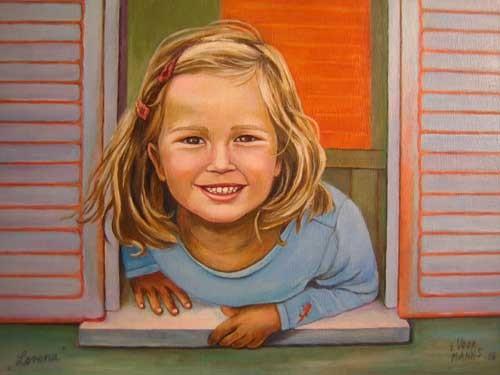 Lorena 30x40 cm Acryl auf Maltuch