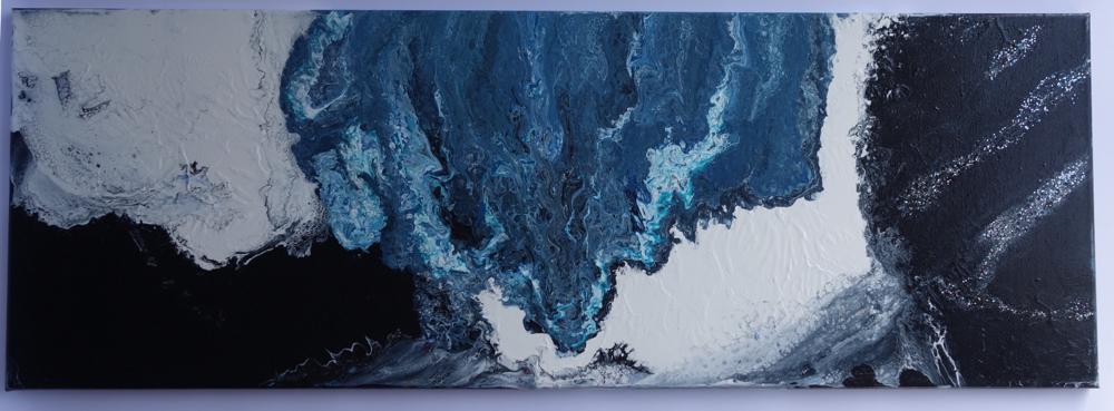 40x120x2 cm Acryl auf Leinwand