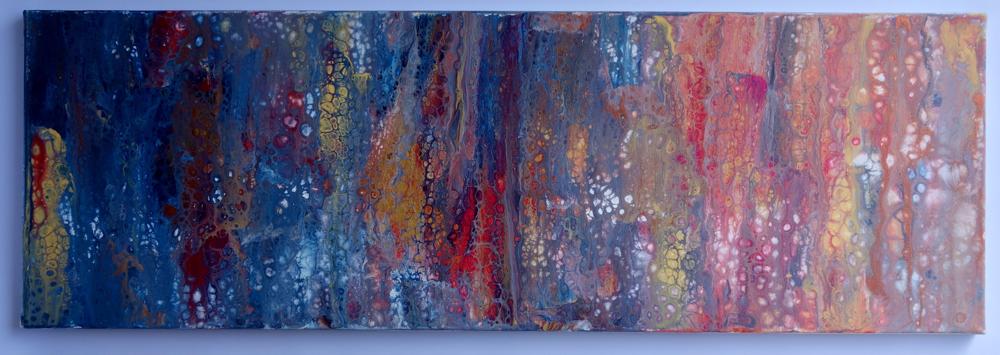 30x90x2 cm Acryl auf Leinwand