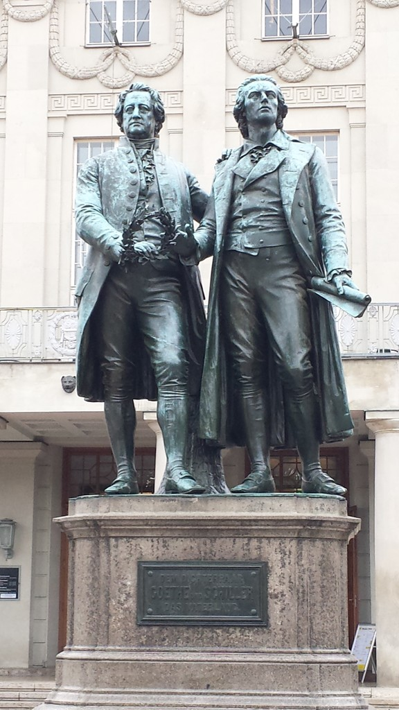 Gothe und Schiller Denkmal in Weimar