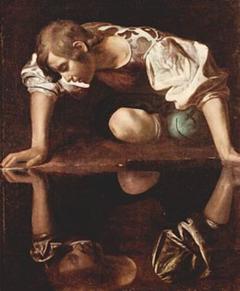 0-5-Narcisse par le Caravage  1598