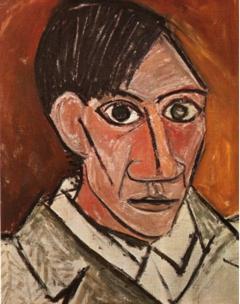 22-2-Pablo Picasso autoportrait 1907