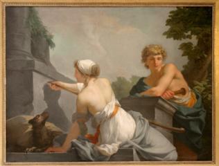 0-3-Jean-Baptiste Regnault Dibutade ou l'Origine de la peinture 1786