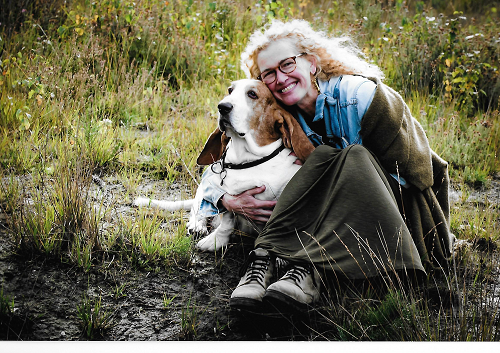 Here is Gieke and her loyal companion the dog Ramses. May they both rest in peace.