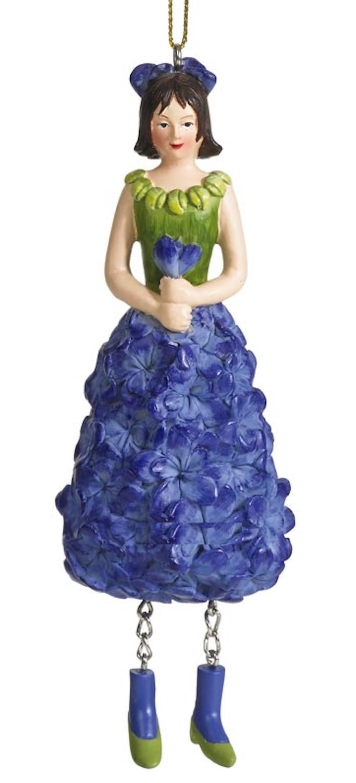 Blumenmädchen Rittersporn blau