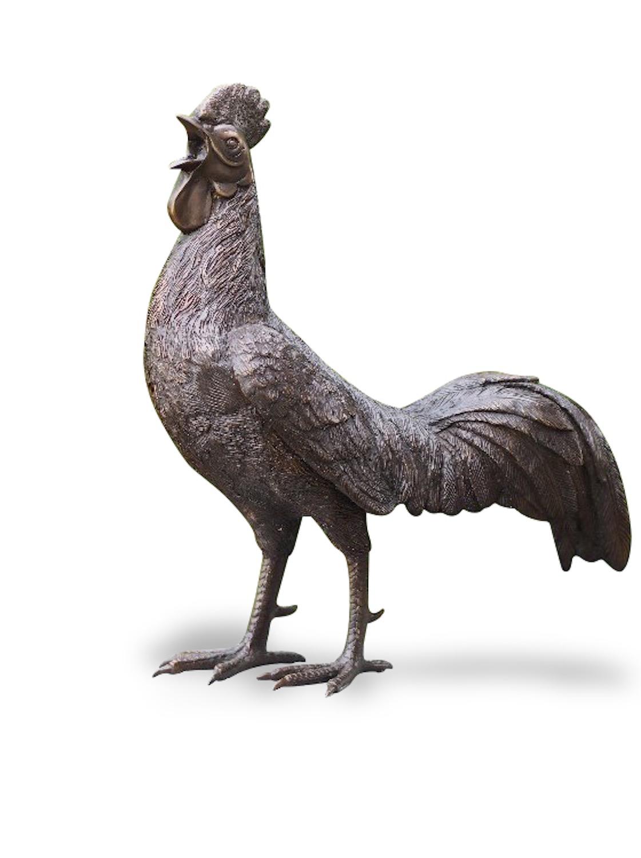 Bronzefigut Vogel HAHN