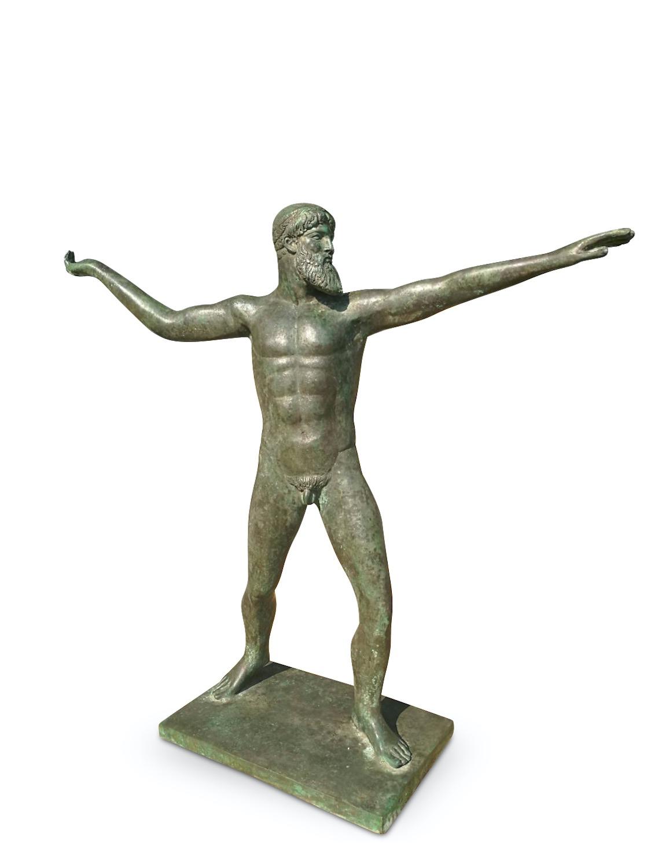 Bronzefigur POSEIDON oder ZEUS vom Kap Artemision, 65 cm