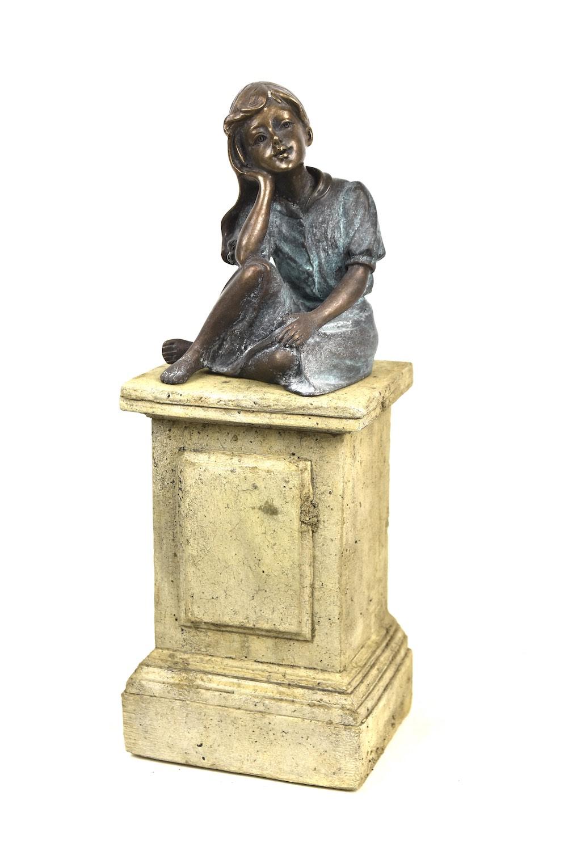 Bronzefigur ANNA, 14 cm, auf MINIPODEST