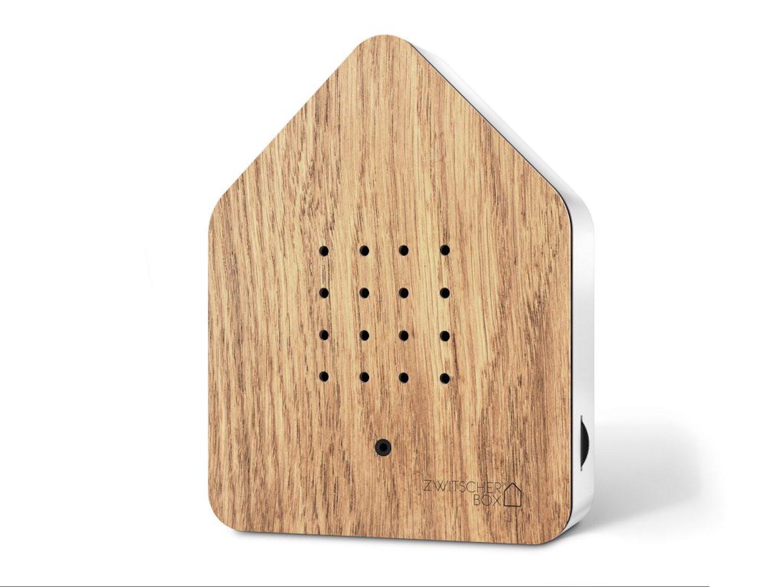 ZWITSCHERBOX Holz EICHE-weiß